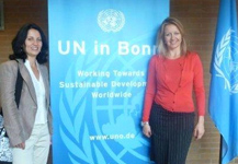 Together with Gordana Berger, at the UN volunteers trainings series in Bonn, Germany